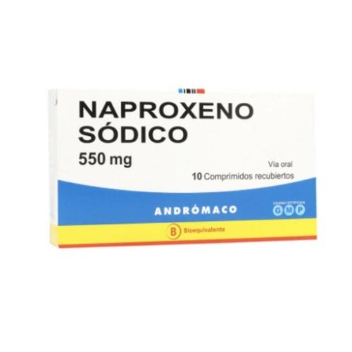 Naproxeno 550Mg X 10 comprimidos recubiertos (Andrómaco)