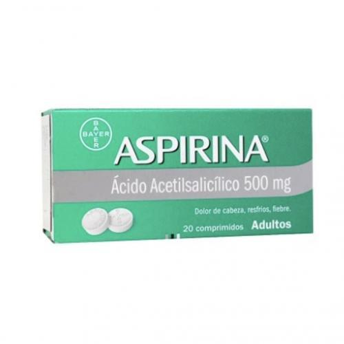 Aspirina Adulto 500mg X 20 comprimidos (Bayer)