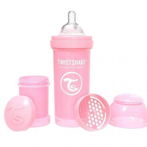 Mamadera Anticolico Twistshake 260 ml Rosado