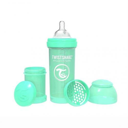Mamadera Anticolico Twistshake 260 ml Verde