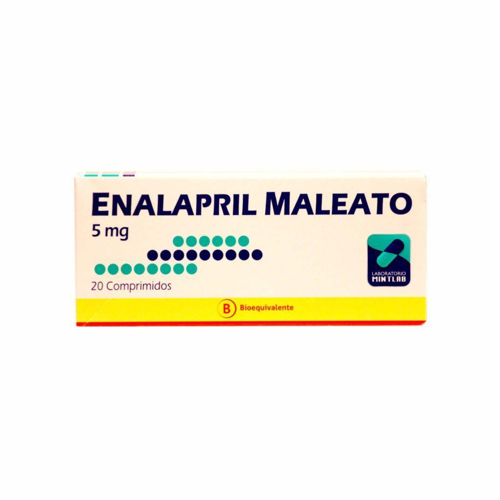 Enalapril 5 mg x 20 comprimidos (Mintlab)