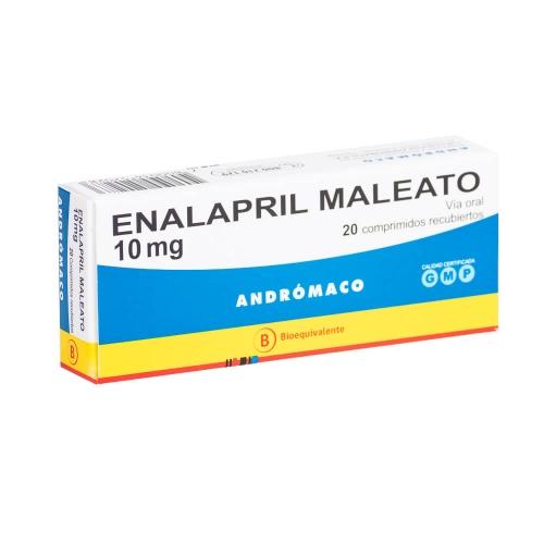 Enalapril 10 mg x 20 comprimidos recubiertos (Andrómaco)