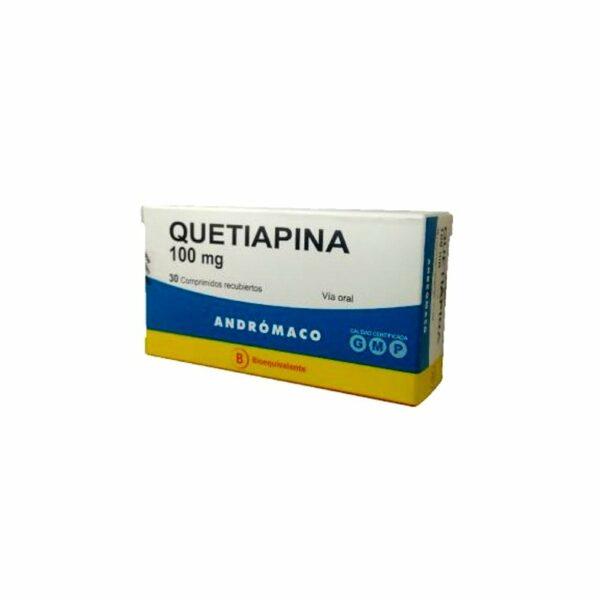 Quetiapina 100 mg x 30 comprimidos recubiertos (Andrómaco)