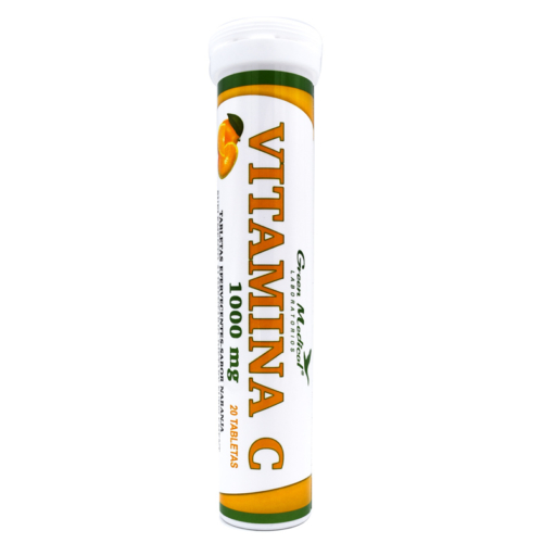 Vitamina C 1000 mg Efervescente x 20 tabletas Green Medical