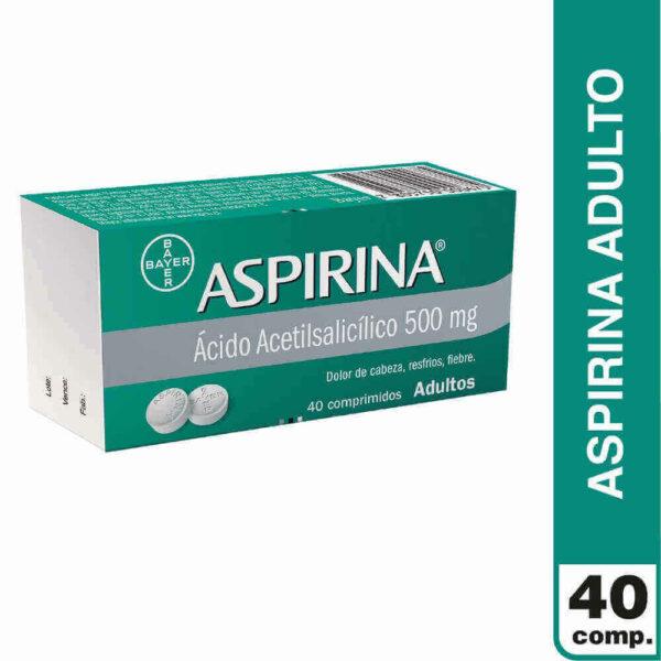 Aspirina 500 mg Adulto x 40 Comprimidos