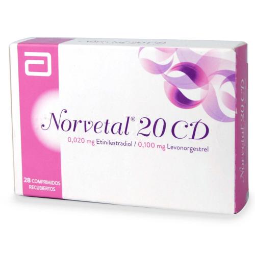 Norvetal 20 CD x 28 comprimidos