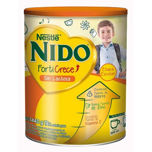 Nido Forticrece Sin Lactosa 1440g