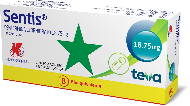 Sentis 18,75 mg x 30 cápsulas (Chile TEVA)