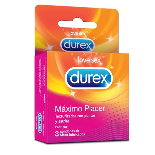 Durex Love Sex Preservativos Máximo Placer X3 (Con puntos y Estrías)