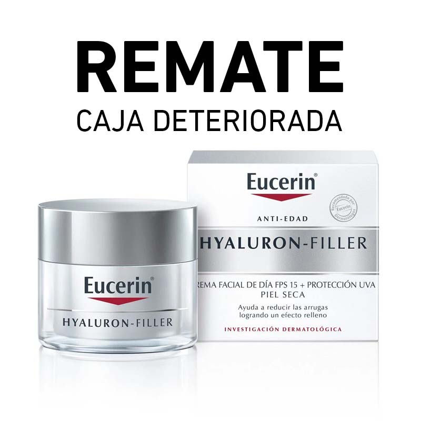 REMATE Eucerin HYALURON-FILLER Crema Día (Caja deteriorada)