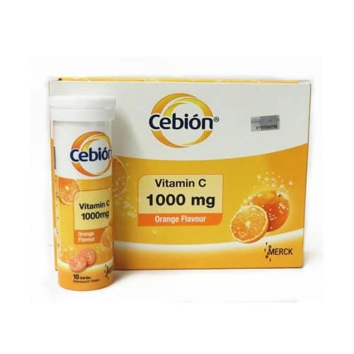 Cebion 1000 X 10 tabletas efervecentes (Merck)