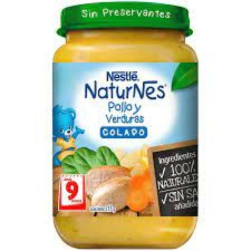 Colado Naturnes Pollo Con Verduras Nestle 215 Gr.