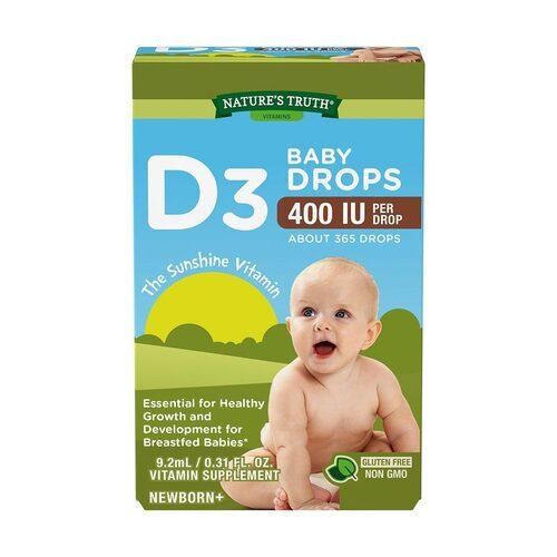 Baby Vitamin D3 10 Mcg (400 UI) Gotas 9,2 Ml (Vitamina D3)